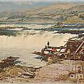 Celilo Falls Postcard by Charles Robinson