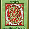 Celtic Christimas O Initial by Melissa A Benson