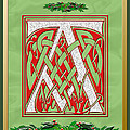 Celtic Christmas A Initial by Melissa A Benson