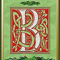 Celtic Christmas B Initial by Melissa A Benson