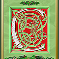 Celtic Christmas C Initial by Melissa A Benson