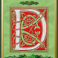 Celtic Christmas D Initial by Melissa A Benson