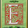 Celtic Christmas E Initial by Melissa A Benson