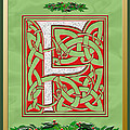 Celtic Christmas F Initial by Melissa A Benson