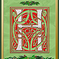 Celtic Christmas H Initial by Melissa A Benson