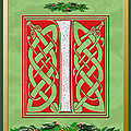 Celtic Christmas I Initial by Melissa A Benson