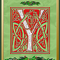 Celtic Christmas Initial Y by Melissa A Benson