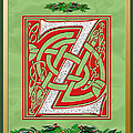 Celtic Christmas Initial Z by Melissa A Benson
