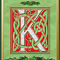 Celtic Christmas K Initial by Melissa A Benson