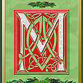 Celtic Christmas M Initial by Melissa A Benson