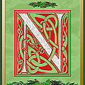 Celtic Christmas N Initial by Melissa A Benson