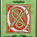 Celtic Christmas Q Initial by Melissa A Benson