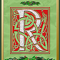 Celtic Christmas R Initial by Melissa A Benson