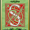 Celtic Christmas S Initial by Melissa A Benson