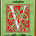 Celtic Christmas V Initial by Melissa A Benson