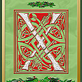 Celtic Christmas X Initial by Melissa A Benson