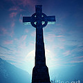 Celtic Cross With Moon by Johan Swanepoel