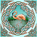 Celtic Flamingo Art by Kristen Fox