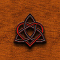 Celtic Knotwork Valentine Heart Canvas Texture 1 Horizontal by Brian Carson