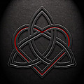 Celtic Knotwork Valentine Heart Leather Texture 1 by Brian Carson