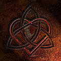 Celtic Knotwork Valentine Heart Rust Texture 1 by Brian Carson