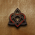 Celtic Knotwork Valentine Heart Wood Texture 1 by Brian Carson