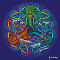 Celtic Mermaid Mandala by Celtic Artist Angela Dawn MacKay