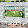 Celtic Park Stadia Art - Celtic Fc by Brian Casey