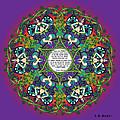 Celtic Spring Fairy Mandala by Celtic Artist Angela Dawn MacKay