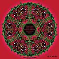 Celtic Summer Fairy Mandala by Celtic Artist Angela Dawn MacKay