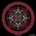 Celtic Vampire Bat Mandala by Celtic Artist Angela Dawn MacKay
