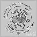 Celtic Wreath Rider Coin by Kristen Fox