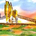 Cement Plant Across The Tracks by Kip DeVore