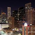 Central Houston At Night by Bill Cobb
