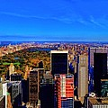 Central Park And New York City In Autumn by Dan Sproul