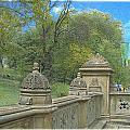 Central Park Bathsheba Terrace 2 by Muriel Levison Goodwin