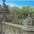 Central Park Bathsheba Terrace 3 by Muriel Levison Goodwin