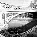Central Park Bridges Bow Bridge Spanning Lake by Bill Cannon