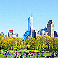 Central Park Panoramic View by Don Kuing