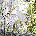 Central Park Stroll by Clara Sue Beym