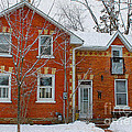 Century Home In Winter 3 by Nina Silver