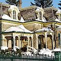 Century Home In Winter by Nina Silver