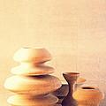 Ceramic Pottery Still Life I - Soft Vintage by Beverly Claire Kaiya
