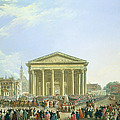 Ceremony Of Laying The First Stone Of The New Church Of St. Genevieve In 1763, 1764 Oil On Canvas by Pierre-Antoine Demachy