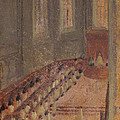 Ceremony Of Ordination At Lyon Cathedral by Edgar Degas