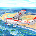 Cessna 206 Flying Over The Outer Banks by Jack Pumphrey