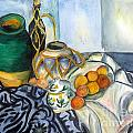 Cezanne Still Life With Apples In Watercolor by Donna Walsh