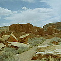 Chaco Canyon Ruins by Mike Wheeler