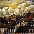 Chalone Sur Soane Rooftops With Clouds Number Two by Bob Coates