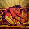 Chamorro Woman Working by Michelle Dallocchio